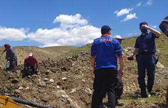 Çankırı'da göçük altında kalan 1 kişi kurtarıldı