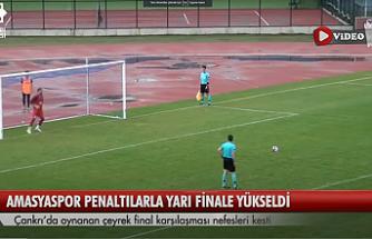 Amasyaspor  1968 FK, penaltı atışlarıyla yarı finale yükseldi!