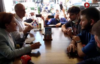 Çankırı'da Meral Akşener'in esnaf ziyaretleri!