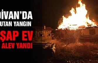Eldivan'da ahşap ev alev alev yandı