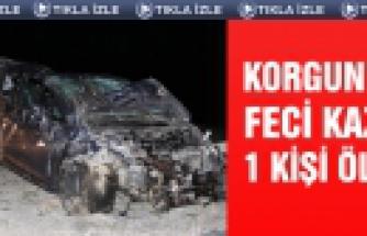 Çankırı'da korkunç kaza 1 ölü 3 yaralı