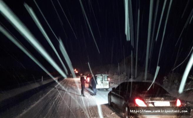 Korgun-Ilgaz yolu trafiğe kapandı!