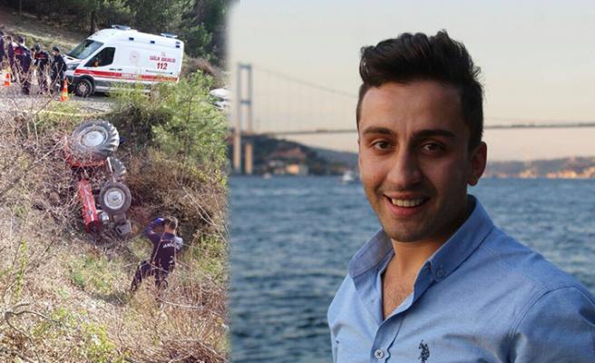 Ormandan dönen talihsiz genç traktör kazasında öldü!