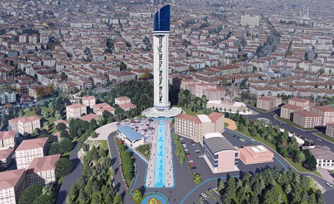 Cumhuriyet Kulesi'nin yapımı hız kesmeden devam ediyor