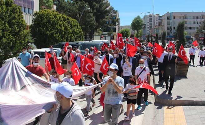 19 Mayıs Çankırı'da gençlik yürüyüşüyle kutlandı!