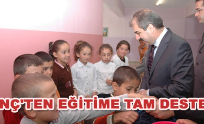Başkan Dinç eğitime destek turlarına devam ediyor
