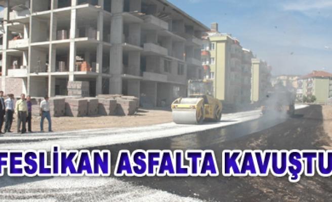Feslikan asfalta kavuştu