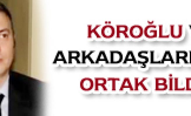 Çankırı Baro Başkanı Erkan Köroğlu ve arkadaşlarının teröre karşı ortak çapğrı