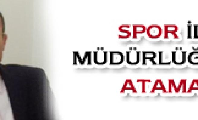 Çankırı Spor İl Müdürlüğüne yeni atama