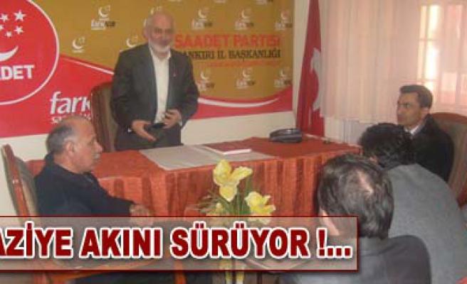 Memursen den Saadet Partisine Taziye ziyareti