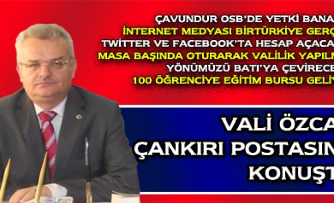 Vahdettin Özcan, Çankırı Postasını makamında ağırladı