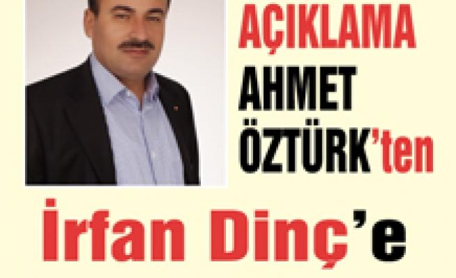 Ahmet Öztürkten açıklama geldi...
