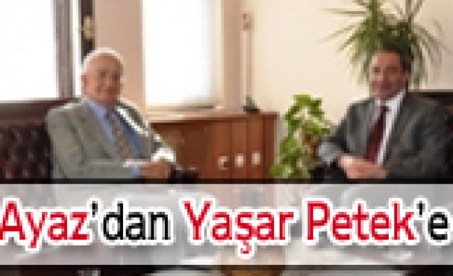 Nevzat Ayaz dan Milli Eğitim Müdürü Yaşar Peteke Ziyaret