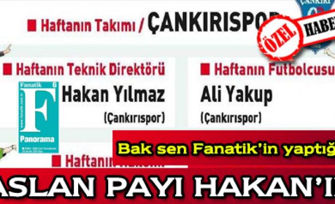 Çankırısporun yasaklı hocası, haftanın T. Direktörü seçildi
