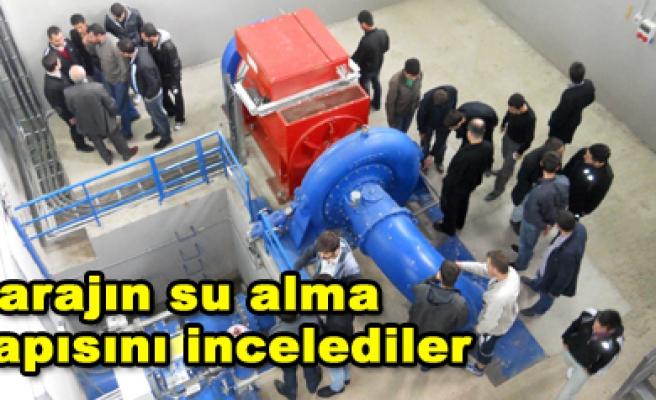 GÜLDÜRCEK'İ VE ARITMA TESİSİNİ GEZDİLER