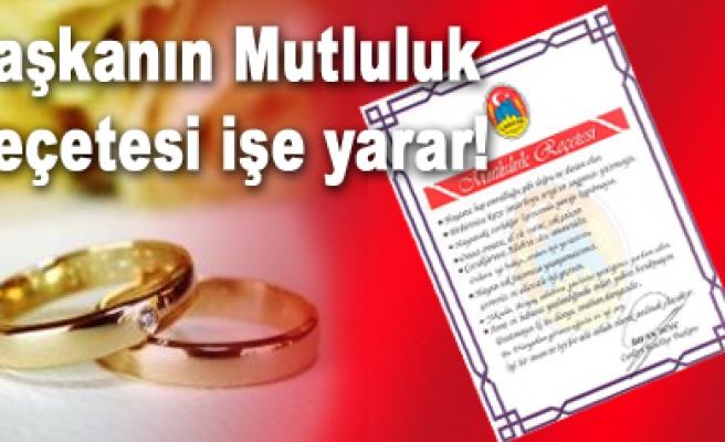 Çankırı belediyesi geçtiğimiz yıl 576 çifti evlendirdi...