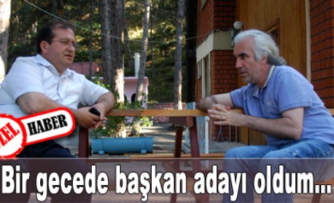 Şahin Tepesinde Başkan Kantaş ile özel görüşme...