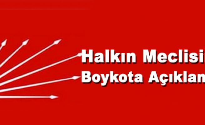 Halkın Meclisini Boykota CHP İl Başkanlığından Açıklama
