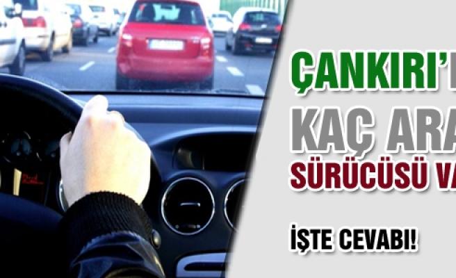 Çankırı'da kaç araç sürücüsü var?