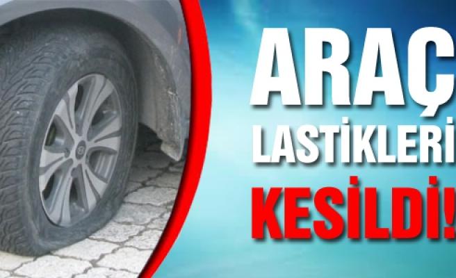 Çankırı'da araç lastikleri kesildi!