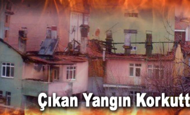 Kurşunlu'da akşam saatlerinde çıkan yangın korkuttu.