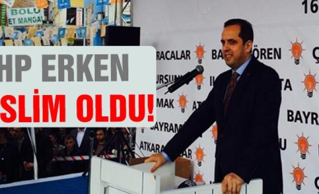 """Çivitçioğlu, """"Mhp Erken Teslim Oldu"""""""