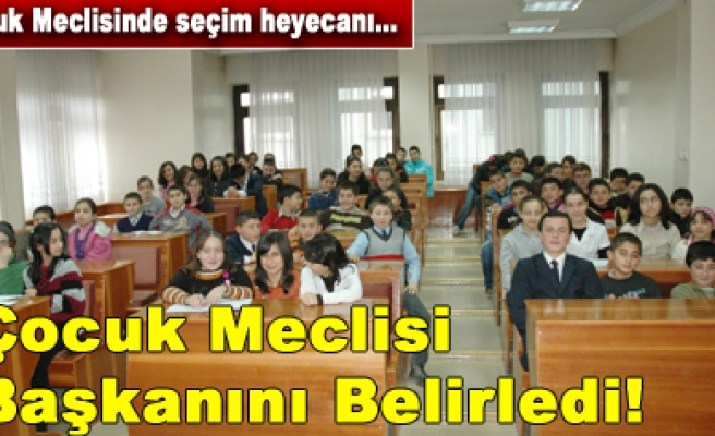 Çankırı Belediyesi Çocuk Meclisi başkanını belirledi...