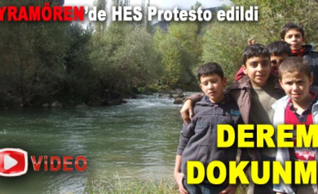 BAYRAMÖREN'de HES Protesto edildi