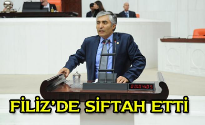 Çankırı Milletvekili Hüseyin Filiz ilk siftahını etti