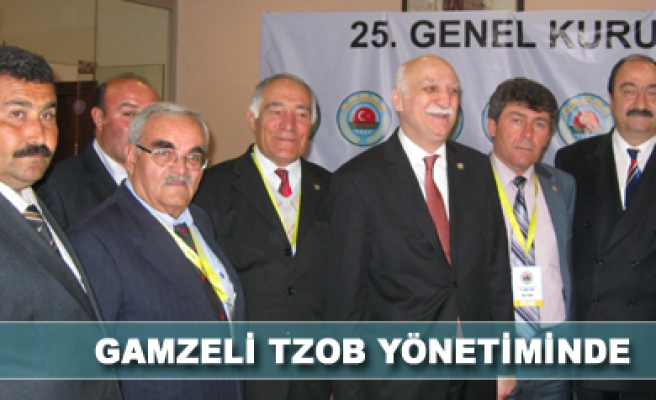 Gamzeli TZOB Yönetimine seçildi