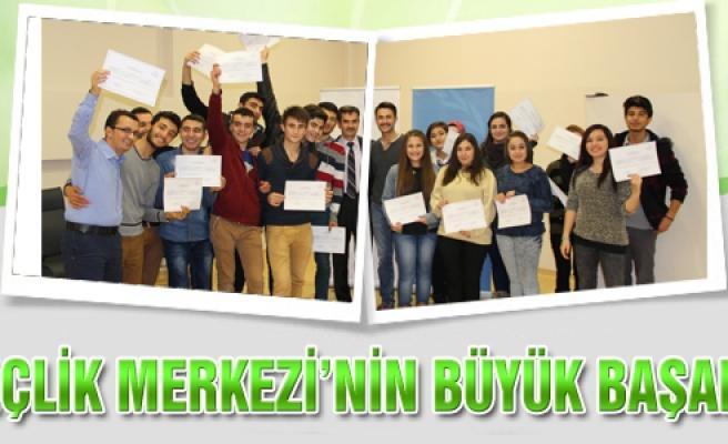 Gençlik merkezini büyük başarısı!