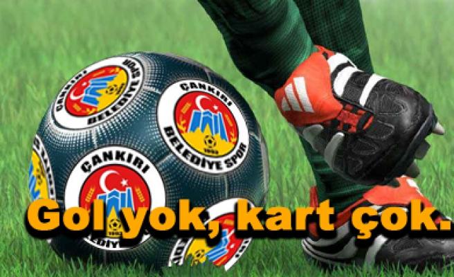 Çankırı Belediyespor 0-0 Kırşehirspor Maç sona erdi...