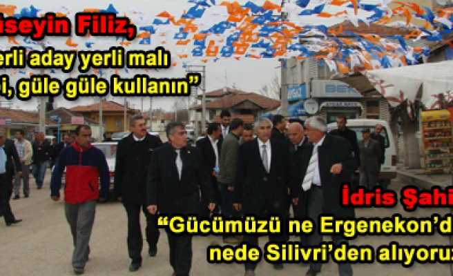 Şahin ve Filiz Bayramören ve Atkaracalar'da halkla buluştu
