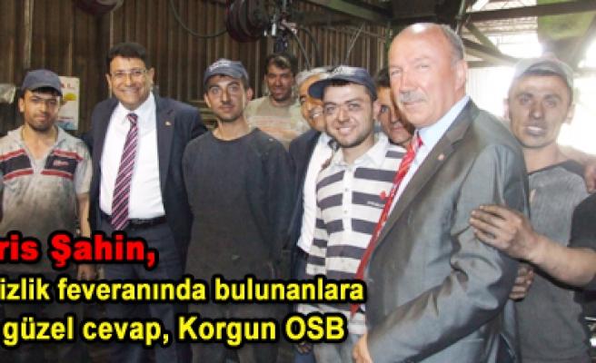 Ak Parti Milletvekili adayları Korgun OSB yi ziyaret etti
