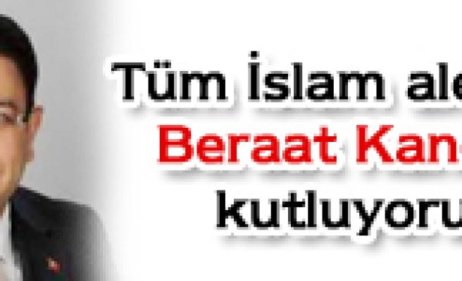 Milletvekili İdris Şahin'in kutlama mesajı