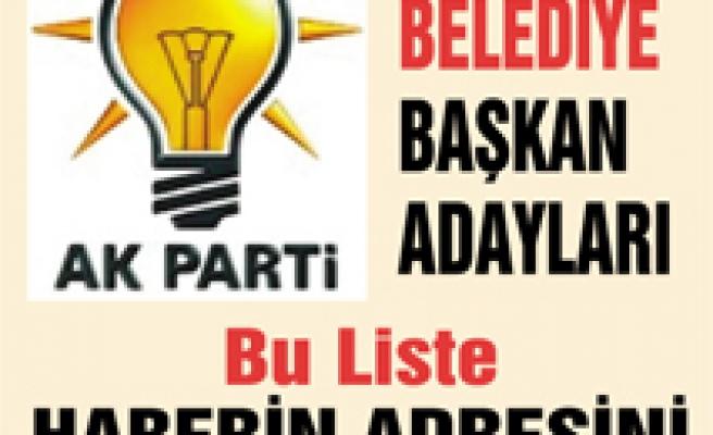 AK Parti Çankırı Belediye Başkan Adayları