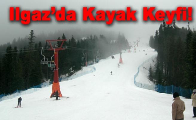 Ilgaz'da kayak keyfi bir başka!