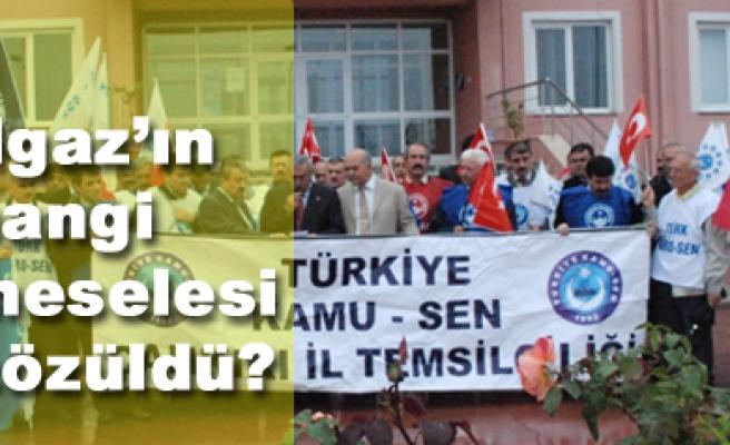 Türkiye Kamu-Sen Çankırı İl Temsilciliği Protesto