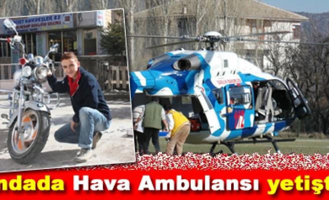 Ilgazda Yaralı Gence Hava Ambulansı Yetişti