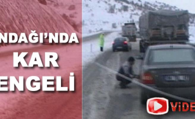 İndağı'nda kar ulaşımı olumsuz etkiledi. Video Haber