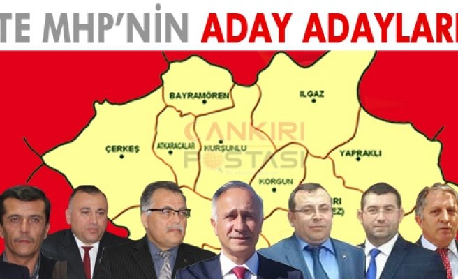 işte Çankırı MHP'nin aday adayları!
