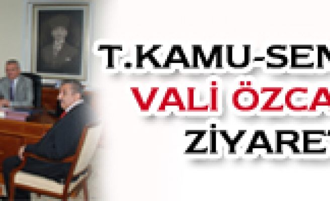 T.KAMU-SEN DEN YENİ VALİYE ZİYARET