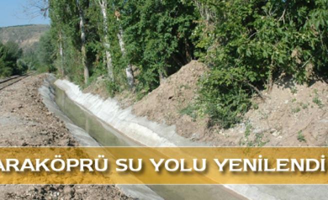 Karaköprü su yolu yenilendi
