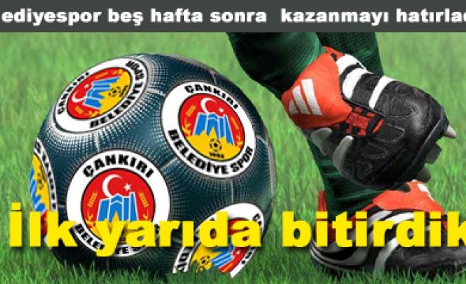 Çankırı Belediyespor 1- Ofspor 0 maç sona erdi...