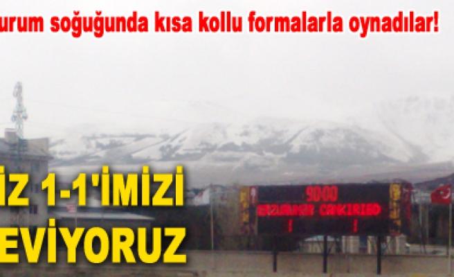 Erzurumspor 1-1 Çankırı Belediyespor!Maç sona erdi...
