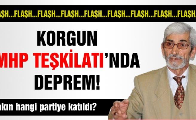 Korgun MHP Teşkilatında Deprem!