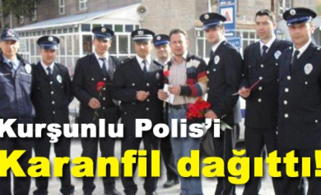 Kurşunlu polisinden örnek davranış...