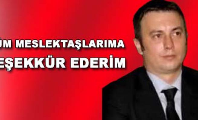 Erkan Köroğlu teşekkür mesajı