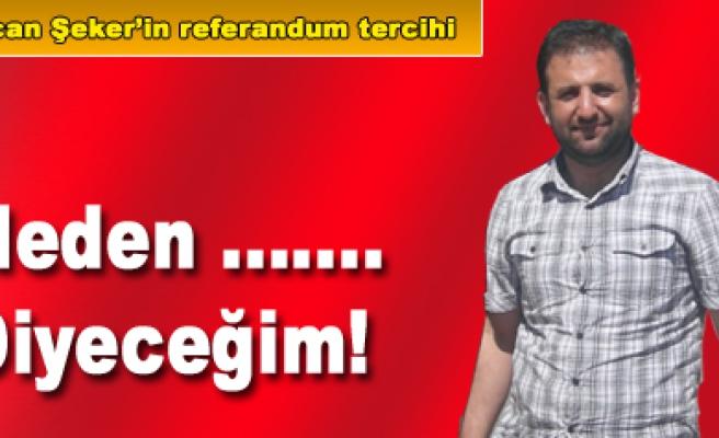 Ercan Şeker Referandumdaki tercihini açıkladı