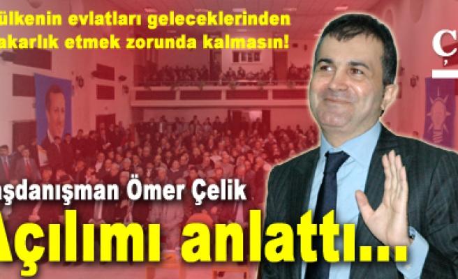 Ömer Çelik, Çankırılılara demokratik açılımı anlattı...